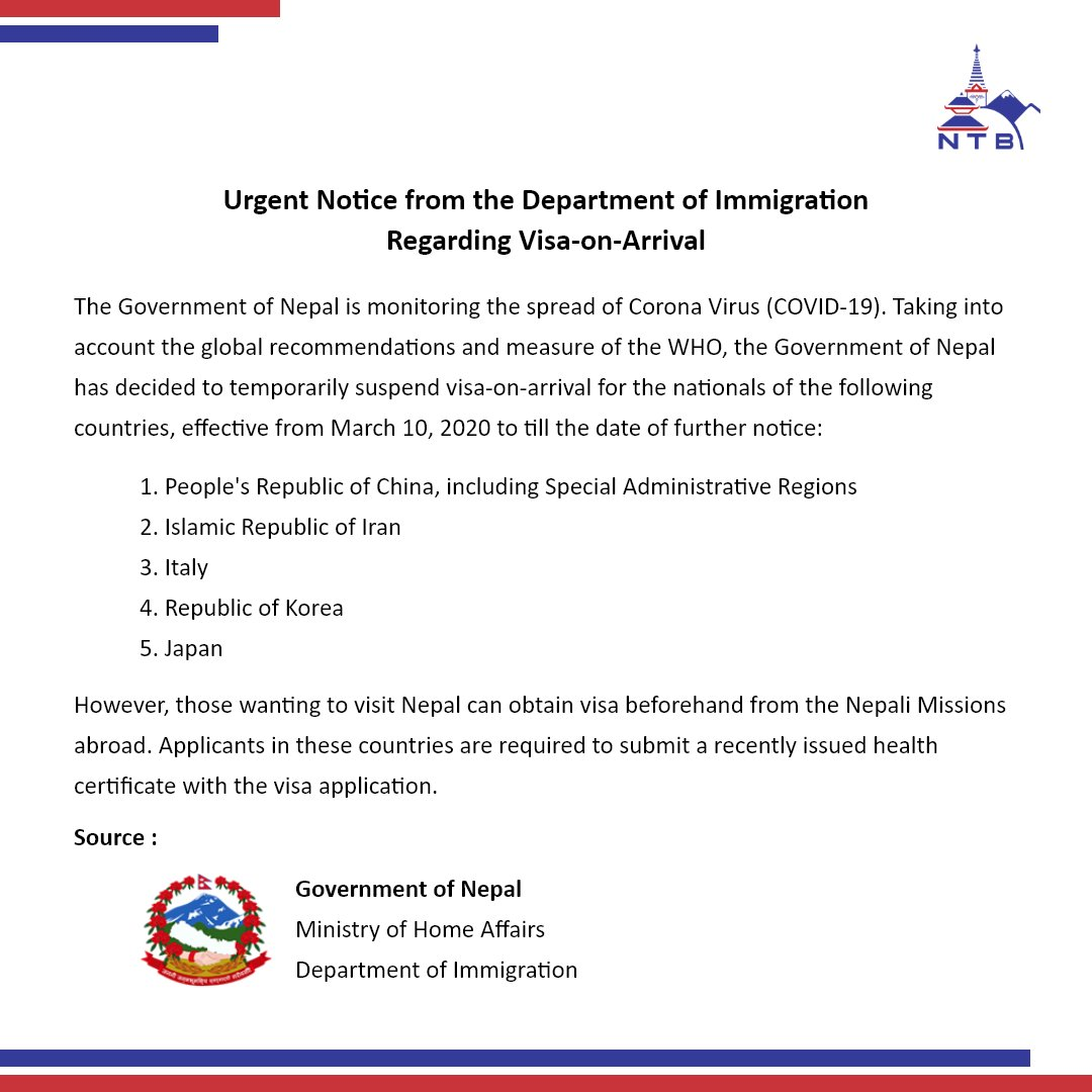 Urgent Notice from The Department of Immigration Regarding Visa-on-Arrival